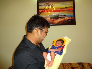 Rajesh Khobragade with his new born niece