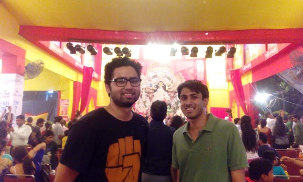 Anubhav Mishra and Vignesh (LTEN) Durga Puja celebration