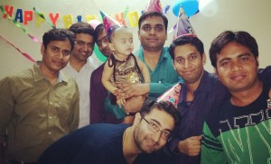 Ashish Patidar's(LMB, Faridabad) daughter's 1st birthday