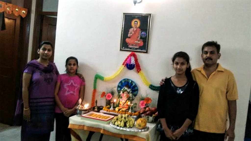 Ganesh Chaturthi celebration at home of Mr. Sateesh Hunagund from LMB