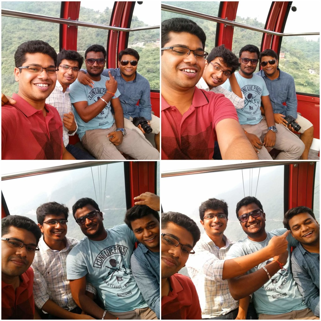 Rakesh N, Pranav Nikhare, Vishwanath Kalashetty and Venkatesh Jeyaraman on trip to Kasauli