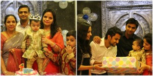 1st B'day celebrations of Baby Vihaan Jain- youngest son of Mr. Nitesh Jain (HSE, LTEN) & Mrs. Nupur Jain