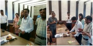 Nitesh Jain celebrated 10 years in LnT