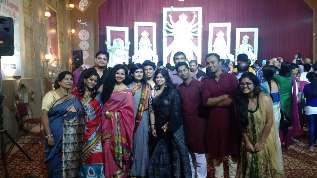 Ashruti Baranwal (LTHE) and Ayush Jain (LT MHPS) - Durga Puja celebrations