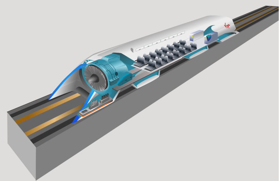 Concept art of Hyperloop Inner workings