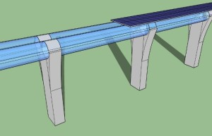 3D sketch of Hyperloop infrastructure