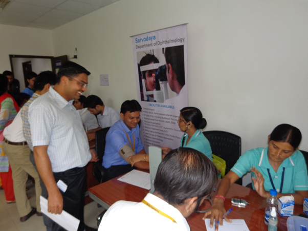 Paramedical Team providing BP and Sugar Check-up facility