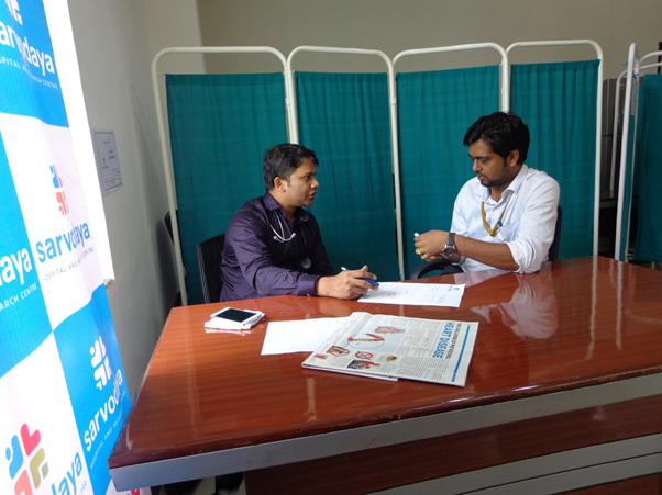 Specialist Doctor and employee during consultation