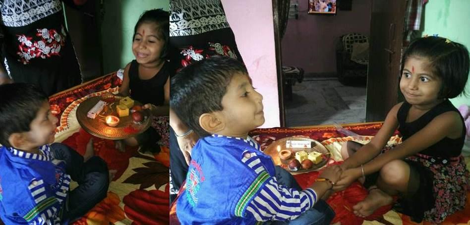 Kumar Ravi Shankar's (LT MHPS) kids - Raksha Bandhan Celebration